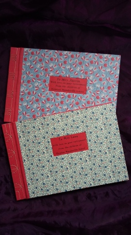 Memory Books for teachers on retirement